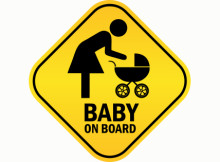 Baby on Board Yellow Diamond Sign