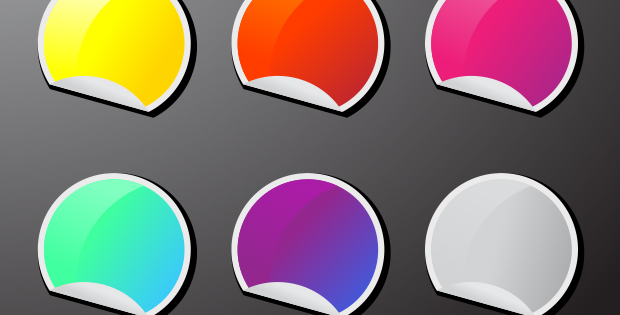 Clear Vinyl Stickers Colorful Sticker Icons